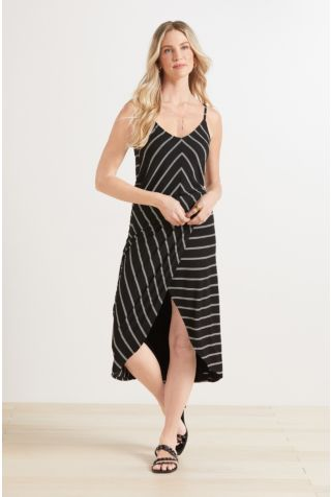 Aidy Stripe V Neck Dress