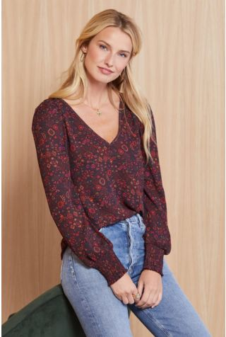 Layla Floral Puff Blouse