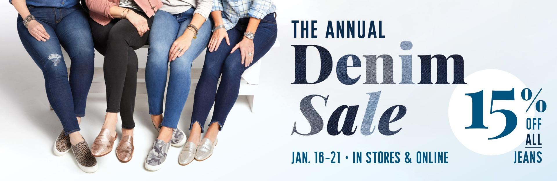 3608f7039d6 Shop Annual Denim Sale - EVEREVE - a contemporary fashion and ...