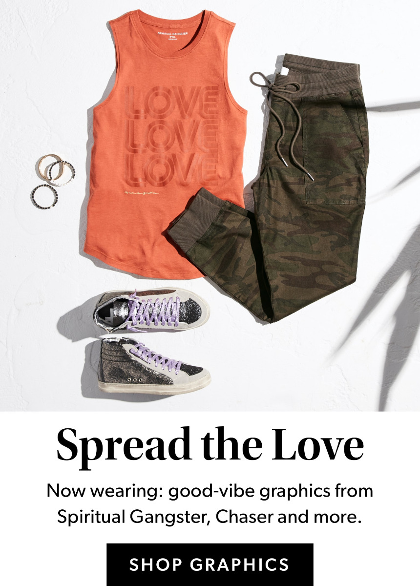 Spread The Love - Now wearing: good-vibe graphics from Spiritual Gangster, Chaser and more – Shop Graphics.