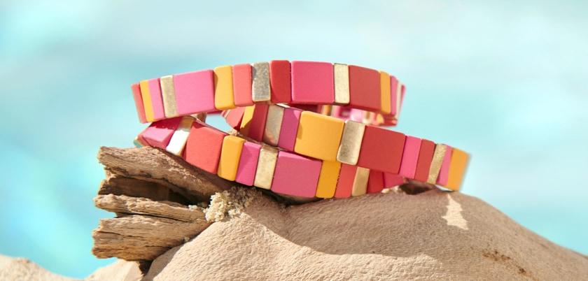 colorful stackable bracelets
