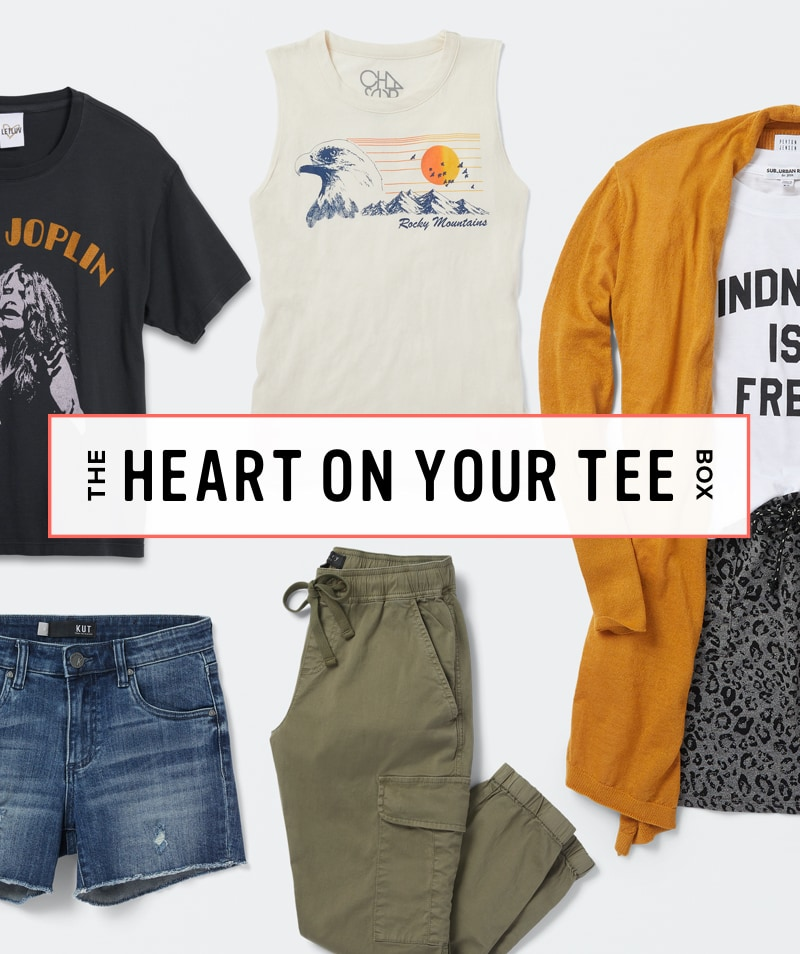 The Heart On Your Tee Box - Order A Trendsend Theme Box