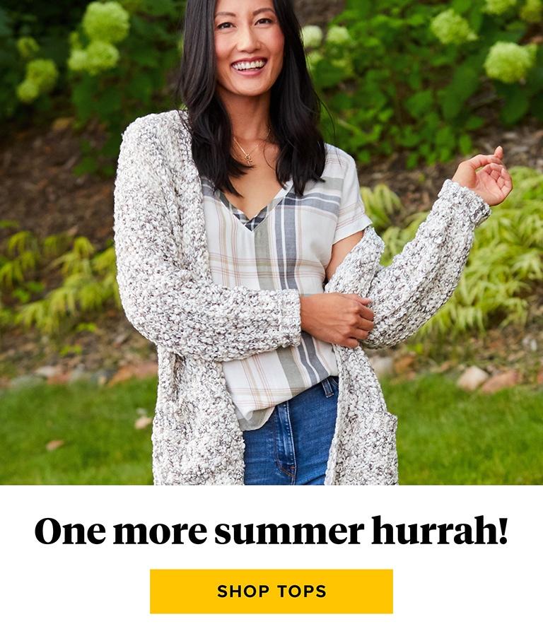 One last summer hurrah - shop tops