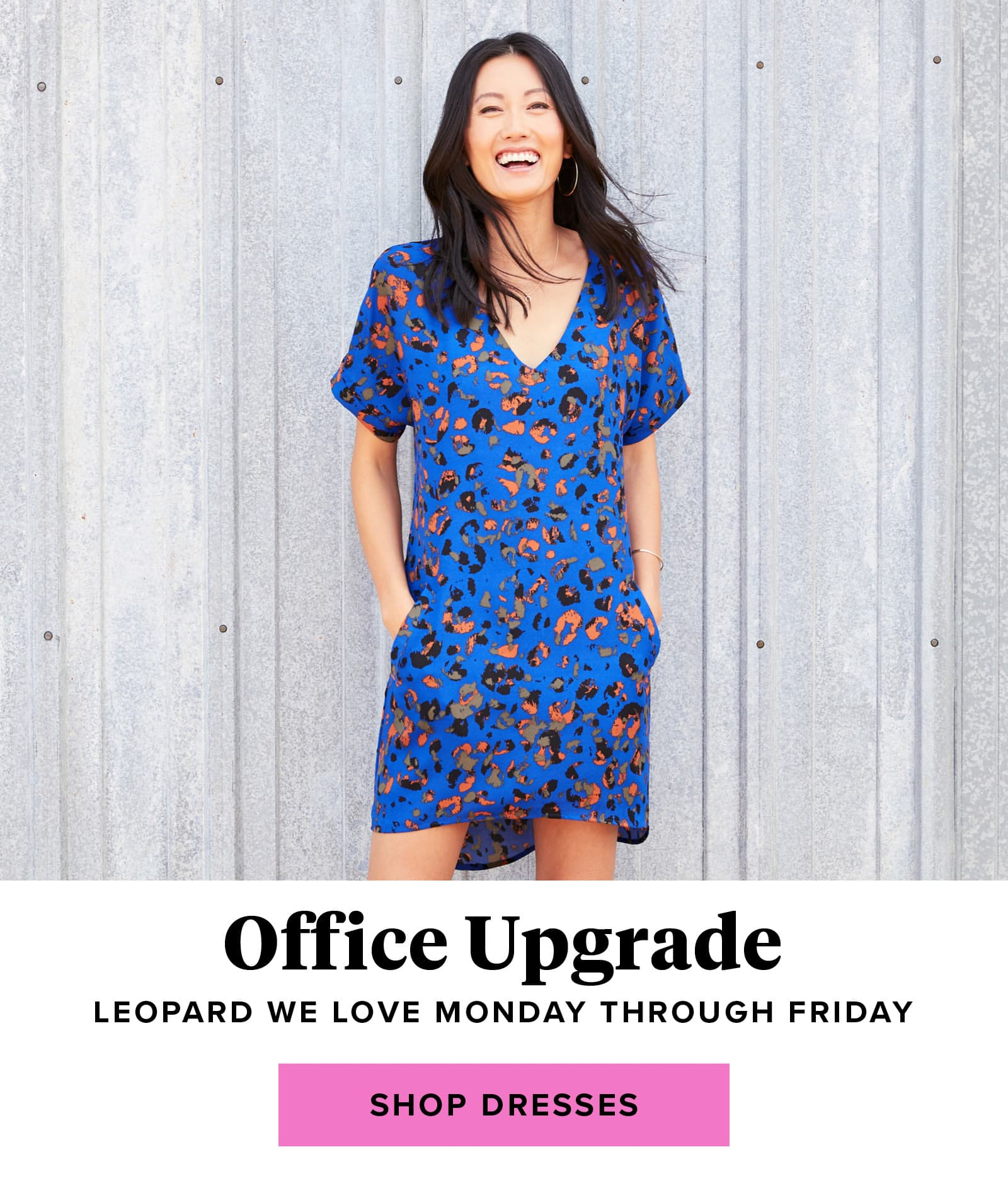Office Upgrade: Leopard we love Monday through Friday - shop dresses