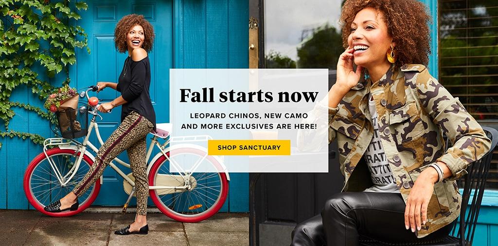 Fall starts now - shop Sanctuary