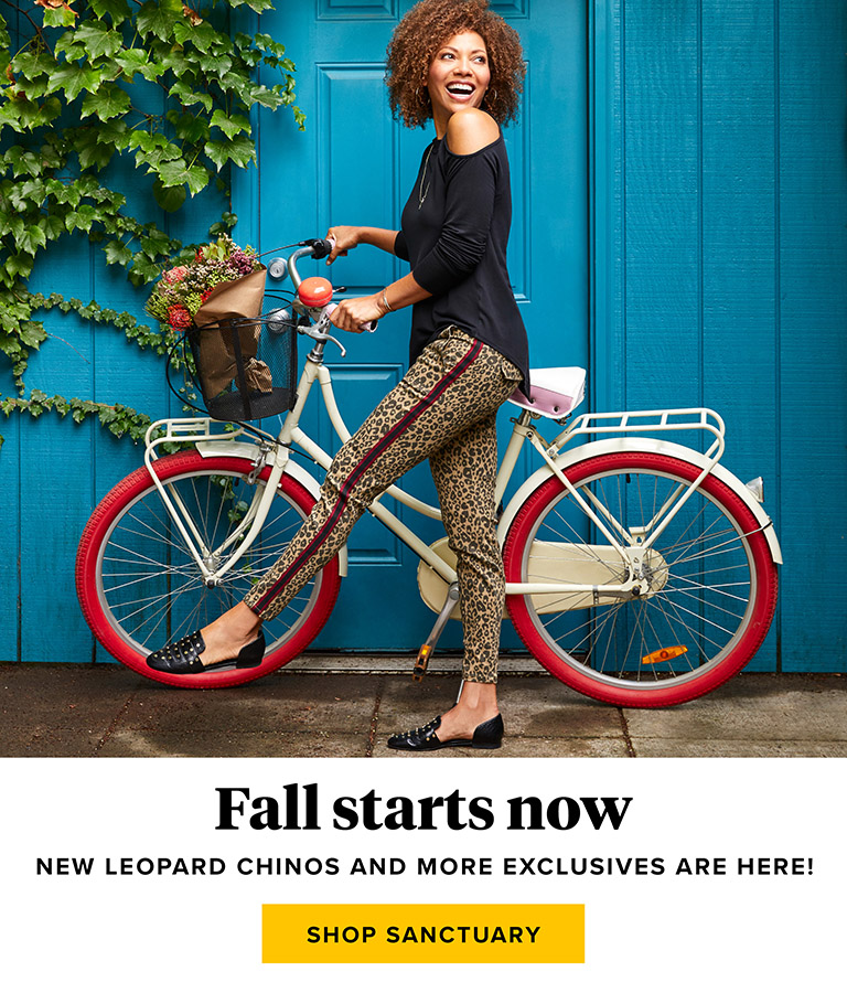 Fall starts now - shop Santuary
