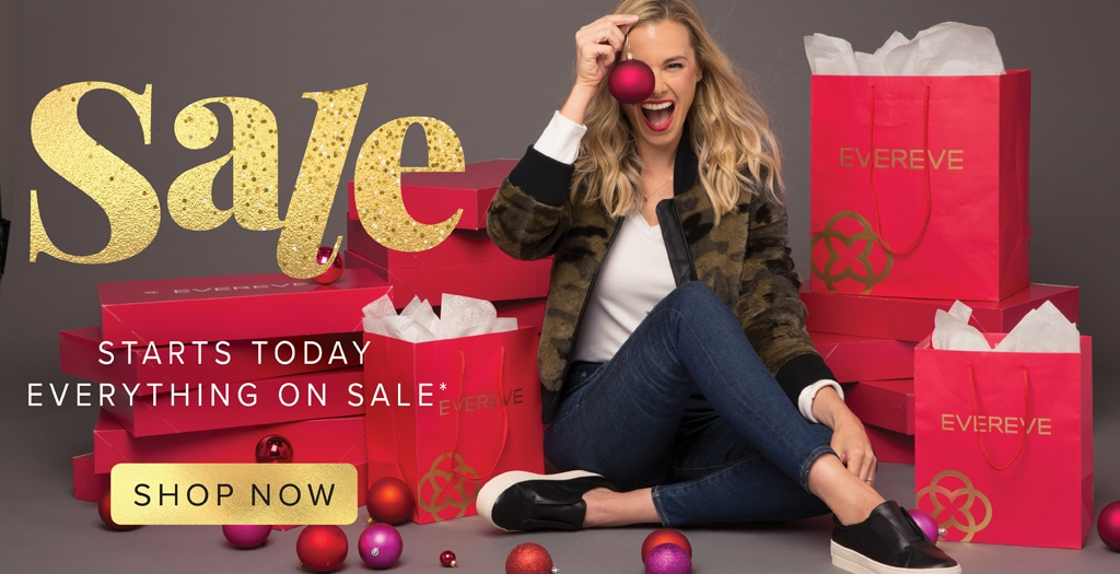 SALE starts today - everything on sale - shop now